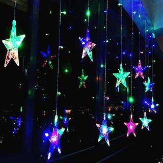 Đèn nháy, đèn trang trí thả mành ngôi sao lấp lánh