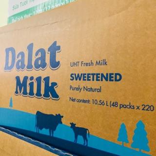 Thùng sữa tươi Dalat Milk 48x220ml