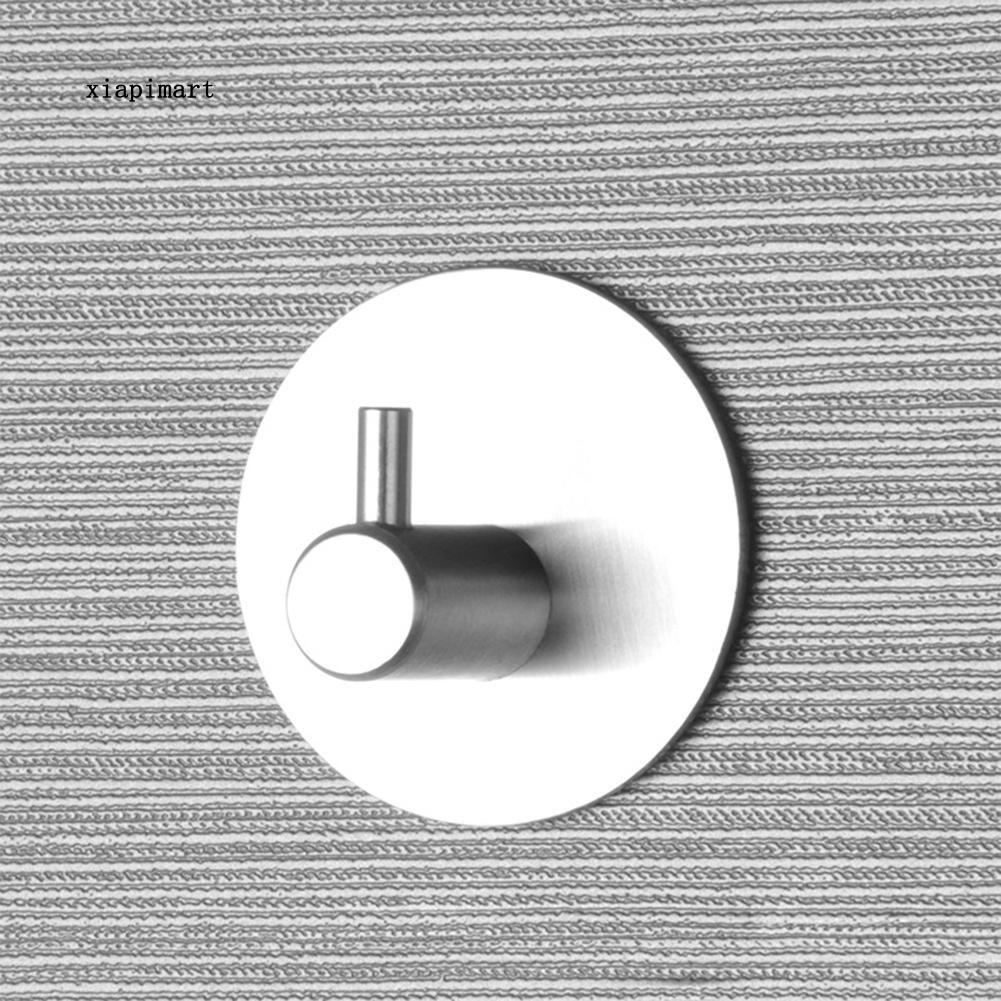 LYY_Self Adhesive Hook Stainless Steel Wall Mount Key Rack Organizer Towel Hanger