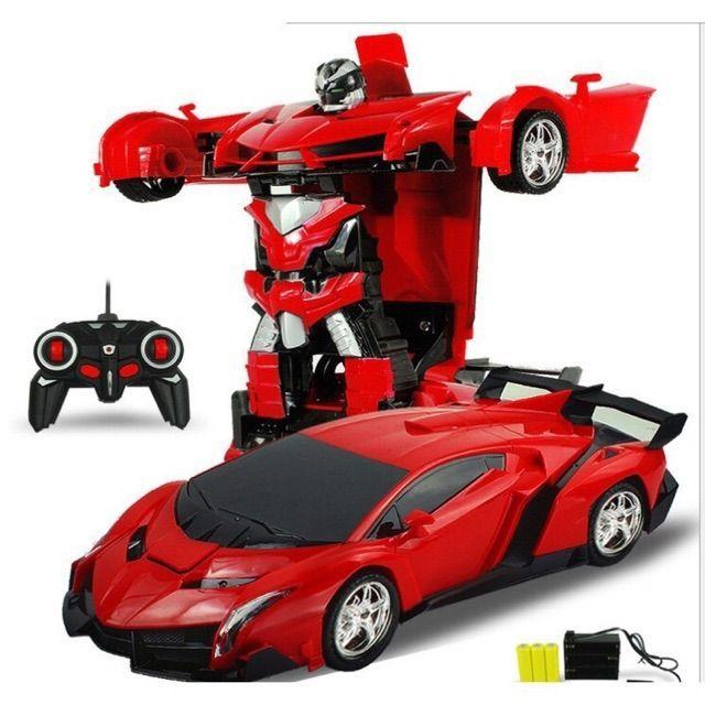 Ô tô biến hình thành robot, điều khiển từ xa, có pin sạc và sạc pin