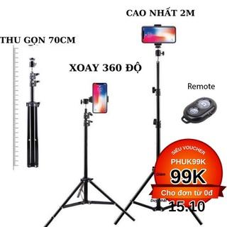 Gậy livestream, giá đỡ điện thoại, chân đỡ đèn 3 chân bằng sắt dài 2m1 – Chân đèn Linco Zenith 8806 lắp máy khử khuẩn