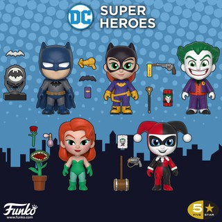 Trọn Bộ 5 Mô Hình Funko 5 Star DC Super Heros Batman – Harley Quinn – The Joker – Poison Ivy – Batgirl