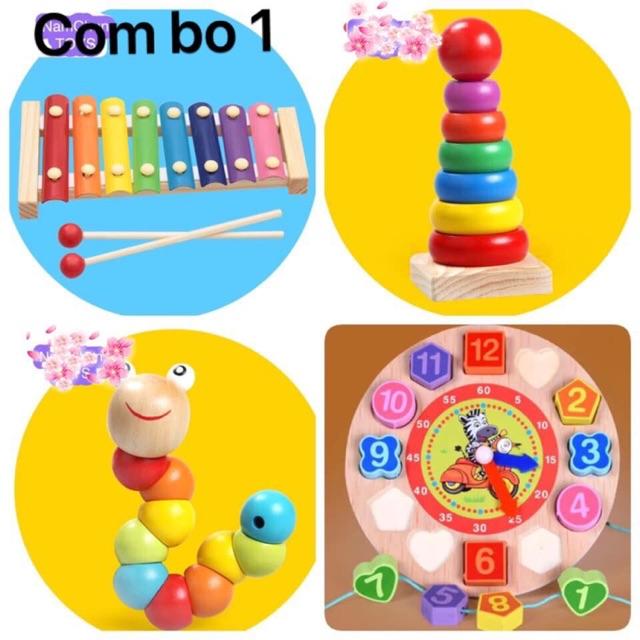 Combo 4 món đồ chơi cho bé giúp bé phát triển kỹ năng cơ bản