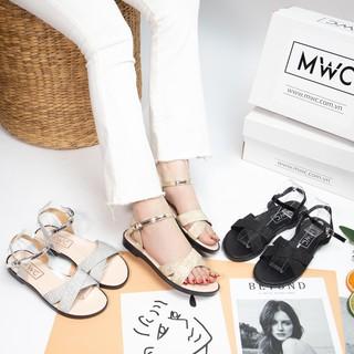 Giày sandal nữ quai ngang kim tuyến MWC NUSD- 2668