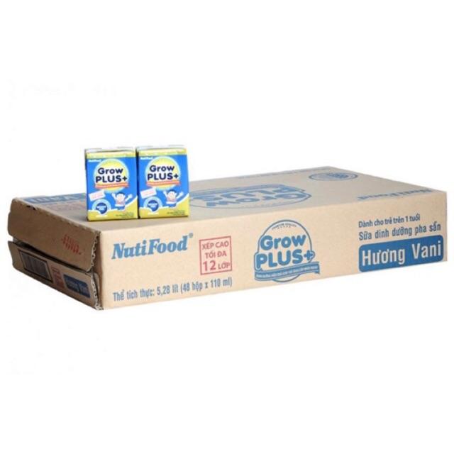 Thùng 48 hộp Sữa nutifood grow plus xanh 110ml