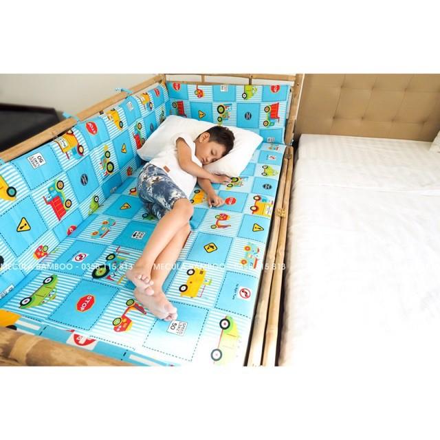 Cũi giường ngủ em bé 2 tầng có cửa giá chỉ 750k