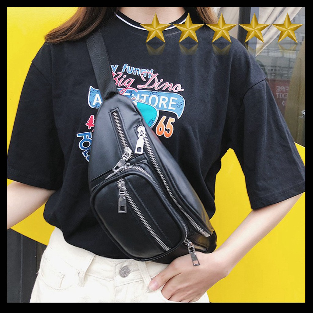Túi đeo chéo da Pu style Lắc Xích 2020