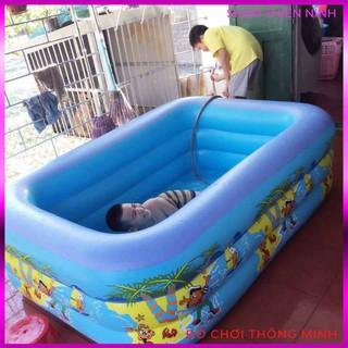 Bể Bơi Hồ Bơi 3 Tầng Tặng Kèm Bơm Điện Cho Bé Kích Thước 210x145x65 Cm