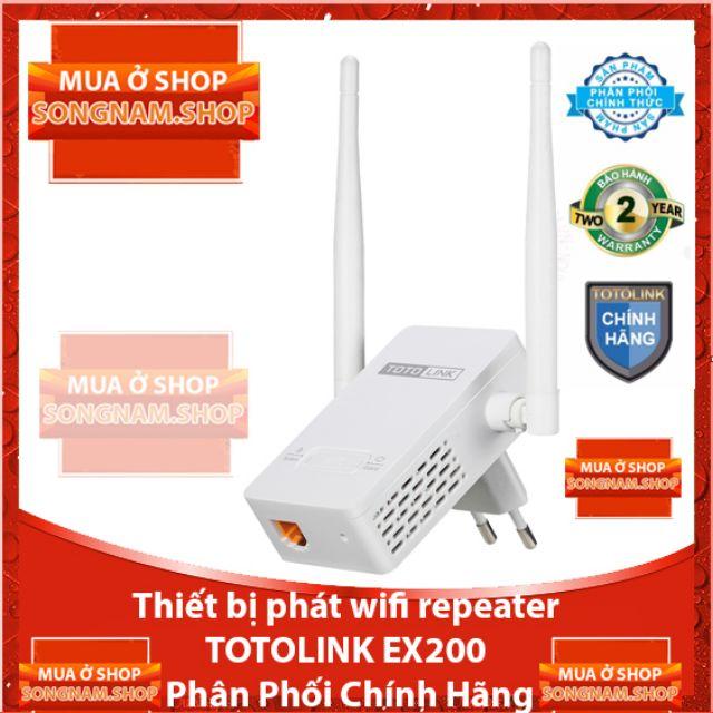 [ Miễn Phí 40k Ship] Thiết bị phát wifi repeater TOTOLINK EX200 Phân Phối Chính Hãng - 3555482 , 1034737694 , 322_1034737694 , 187800 , -Mien-Phi-40k-Ship-Thiet-bi-phat-wifi-repeater-TOTOLINK-EX200-Phan-Phoi-Chinh-Hang-322_1034737694 , shopee.vn , [ Miễn Phí 40k Ship] Thiết bị phát wifi repeater TOTOLINK EX200 Phân Phối Chính Hãng