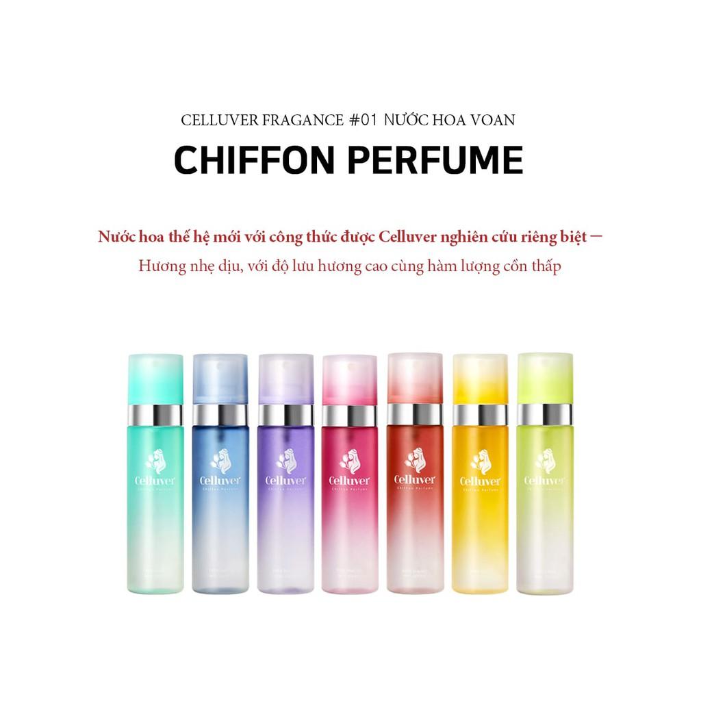 Nước hoa Celluver Chiffon Perfume Hàn Quôc- 80ml - 12 tông mùi- Hwang In Yeop