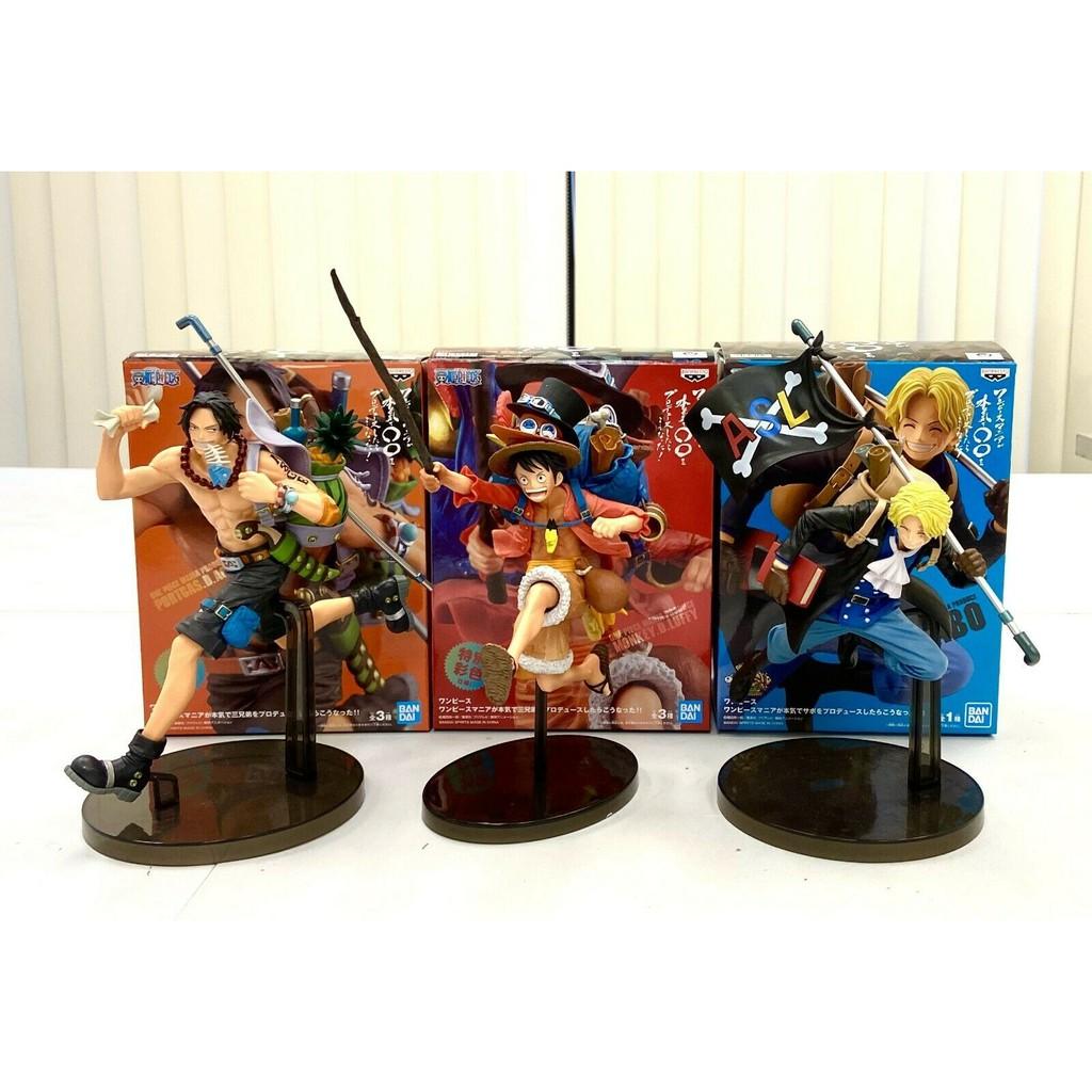 Mô Hình Nhân Vật Bộ 3 Running Luffy - Ace - Sanji  20 Cm [Hộp Đẹp]