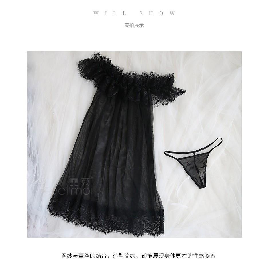 Váy ngủ trễ vay gợi cảm K20 - Váy ngủ sexy - Váy ngủ hở vai - Đầm ngủ mặc nhà - Đầm ngủ sexy - Váy Ngủ gợi cảm quyên rũ