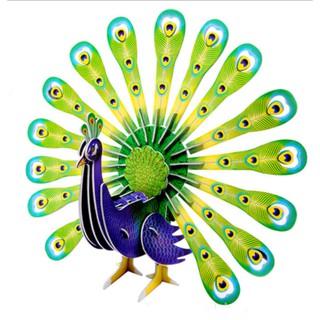 Mô hình lắp giấy 3D màu Peacock