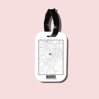 Travel tag cho túi xách balo du lịch in hình Love City - Madrid thumbnail