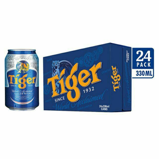 Thùng bia tiger 24 lon