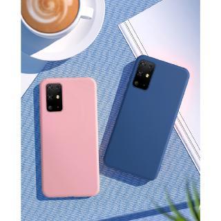 Ốp điện thoại silicone mềm màu kẹo chất lượng cao cho Samsung Galaxy A51 A71 A01 A21 S20 Ultra S20 Plus