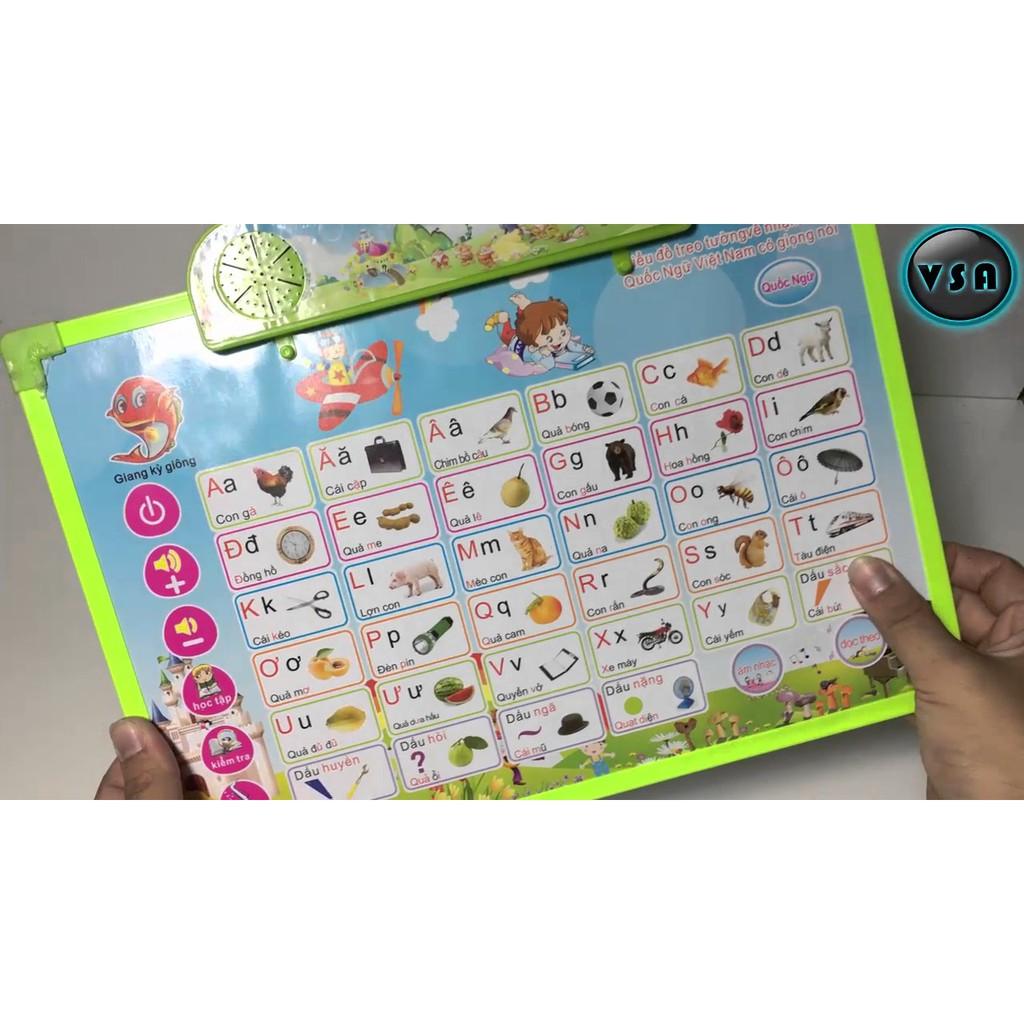Bảng học điện tử thông minh 11 chủ đề Anh - Việt cho bé co phát tiếng