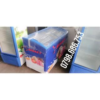 Tủ đông sanaky 410L, mặt kiếng lùa, miễn phí giao hàng