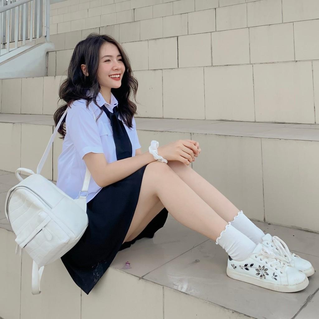 Chân váy xòe nữ Umi Goo Studio không nhăn co giãn nhẹ