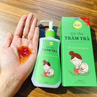Kết quả hình ảnh cho Sữa tắm tràm trà trị rôm sảy Greenbon shopee