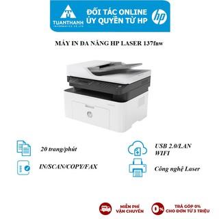Máy in đa chức năng (In, copy, scan, fax) đen trắng HP LaserJet MFP 137fnw_4ZB84A