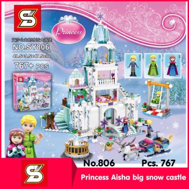 Lego disney princess SY 806- Lâu đài băng cỡ lớn của elsa 767 chi tiết