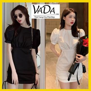 Đầm body đẹp cổ tròn , rút dây khoét eo mặc đi dạo phố, dự tiệc rất xinh, nhẹ nhàng cuốn hút mọi ánh nhìn VADA - Đ123 thumbnail