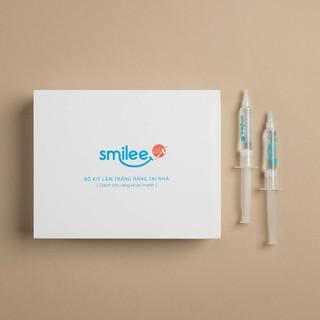 [TẶNG THẺ ĐT 50 K] Bộ tẩy trắng răng an toàn không ê buốt Smilee kèm 2 ống gel liệu trình bổ xung làm trắng răng mạnh mẽ