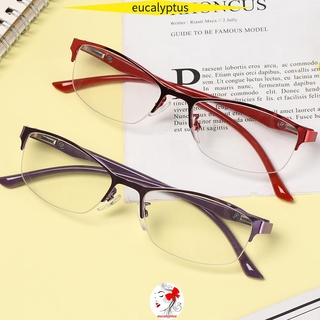 🌱EUPUS🍀 Fashion Hyperopia Eyewear High Quality Clear Lens Reading Glasses New Soft Diopter Women&Men Business Presbyopia Eyeglasses/Multicolor