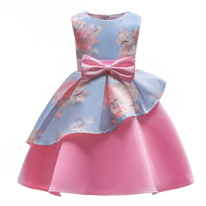 Đầm Công Chúa Thắt Nơ Cho Bé Gái váy trẻ em váy cô gái thời trang trẻ em váy cưới mặc dự tiệc