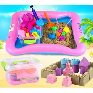 Bộ đồ chơi khuôn và cát nặn vi sinh giúp bé sáng tạo (Không mùi, an toàn cho bé)