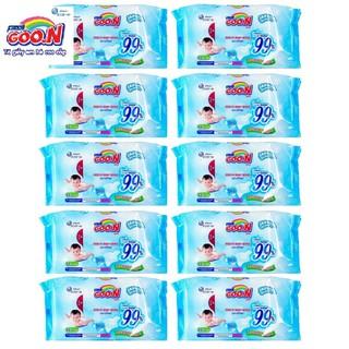 Combo 10 bịch khăn ướt Goon 55 miếng không mùi thumbnail