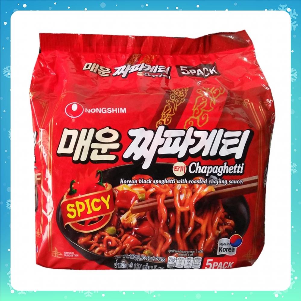 Mì trộn tương đen vị cay Nongshim combo