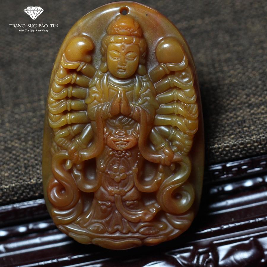Mặt Dây Chuyền Phật Bà Quan Âm Nghìn Mắt Nghìn Tay Đá Mã Não - Bảo TÍn