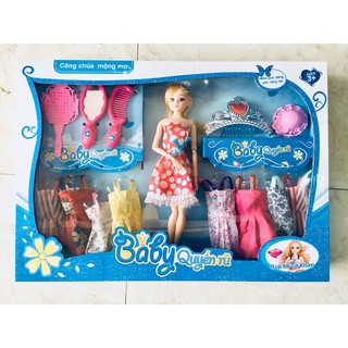 Bộ búp bê công chúa mộng mơ + Set thời trang