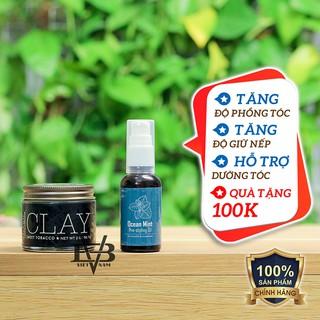 [Chính Hãng] Sáp vuốt tóc 18.21 Man Made Clay nhập khẩu chính hãng USA 57g + Tặng Pre Styling Oil Ocean Mint 30ml V2