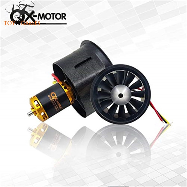 QX-Motor new 64mm EDF 12 leaf set QF2822-4300kv 3s upgrade section edf 64mm ducted fan