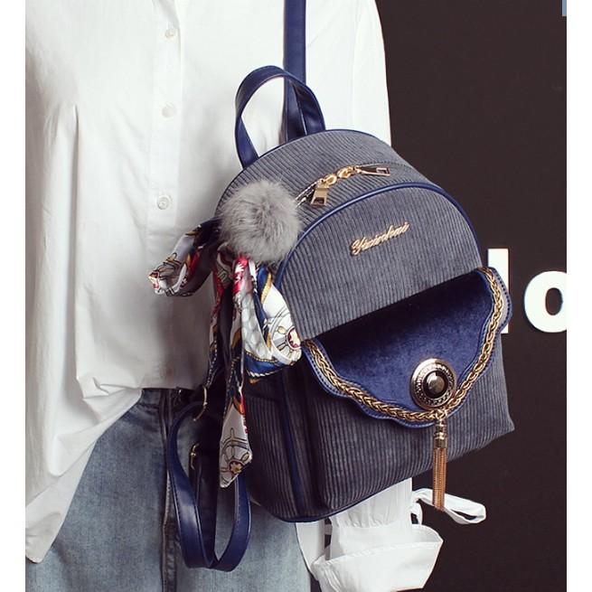 Ba lô thời trang kiểu dáng đơn giản kèm dây nơ vải xinh xắn - 3606822 , 1051884725 , 322_1051884725 , 265000 , Ba-lo-thoi-trang-kieu-dang-don-gian-kem-day-no-vai-xinh-xan-322_1051884725 , shopee.vn , Ba lô thời trang kiểu dáng đơn giản kèm dây nơ vải xinh xắn