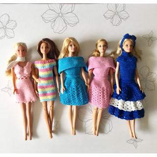 Thời trang handmade cho barbie doll-@bellascrochet_corner
