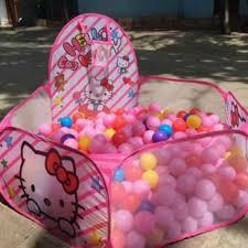 Lều bóng hello kitty cho bé kèm 100 bóng - SIÊU CHẤT LƯỢNG