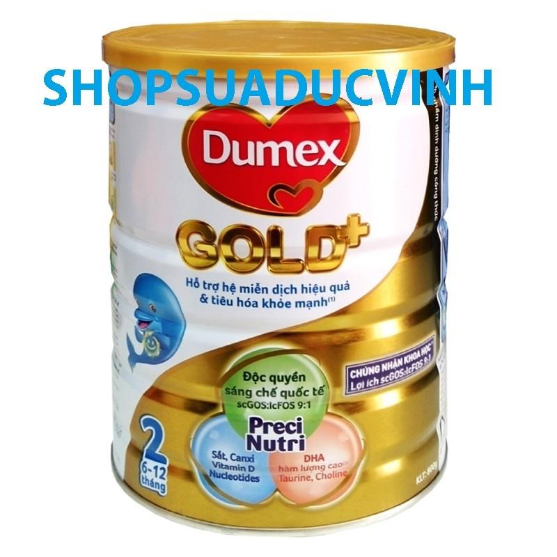 Sữa bột Dumex Gold 2 hộp 800g (6-12 tháng) date 07/18