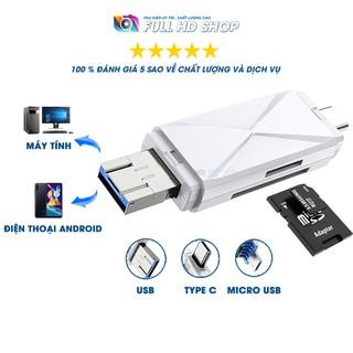 Đầu đọc thẻ nhớ SD/Mircro SD – Dùng cho máy tính và điện thoại Android – Cổng USB/TypeC/Micro USB – Full HD Shop