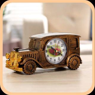 Quà tặng bạn nam siêu ý nghĩa - Đồng hồ báo thức trang trí mô hình xe Jeep cổ xưa sang trọng