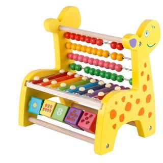 ĐÀN GỖ – Combo Đàn Xylophone 8 Thanh + Bộ tính toán cho bé