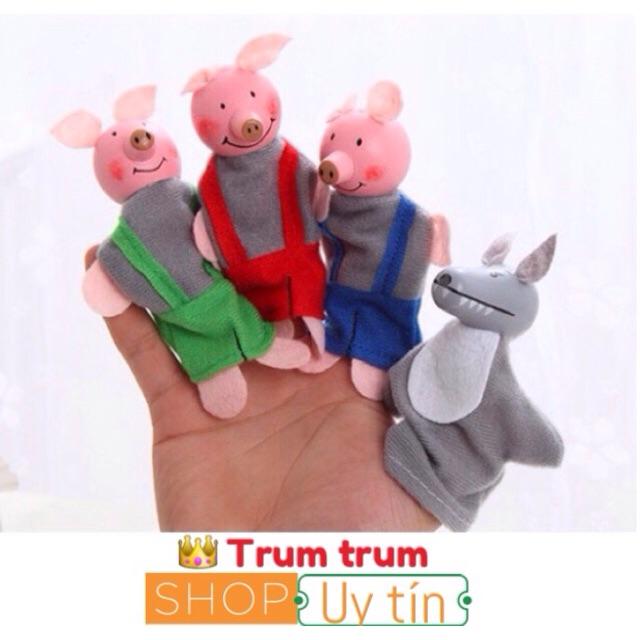 BỘ RỐI XỎ NGÓN 3 chú lợn con và chó sói
