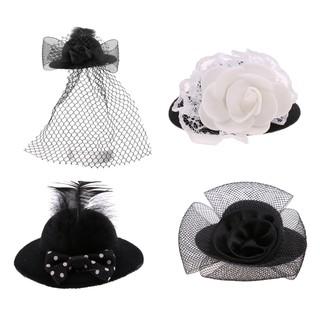 Bộ 4 nón phong cách Vintage cho búp bê 28-30cm