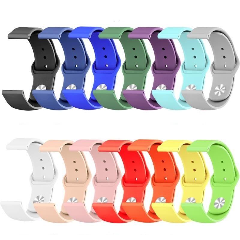 Dây Đeo Silicone 20 / 22mm Cho Đồng Hồ Thông Minh Samsung Gear S3 Galaxy Watch 3 / 46mm / 42mm / Active 2 Huawei Wcdma Gt 2 / 2e / Pro
