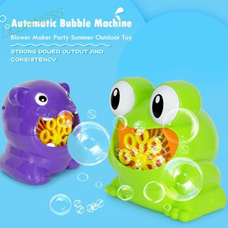 ✦la✦Cute Cartoon Animal Automatic Bubble Machine Blower Maker Kids Outdoor Toys