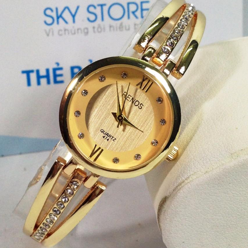 Đồng hồ nữ dây thép không gỉ cao cấp RENOS R88S