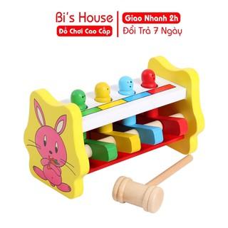 Đồ chơi gỗ đập chuột ( có hình thỏ) - đồ chơi Bi House